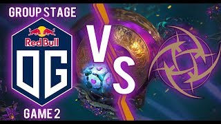 OG vs NIP GAME 2: Group Stage The International 2019