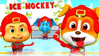 Ice Hockey | Cartoons For Children & Kids | Fun Videos For Babies