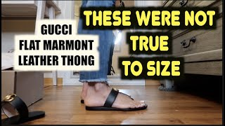 UNBOXING GUCCI THONG‼️ GUCCI MARMONT LEATHER THONG ‼️REVIEW ON GUCCI MARMONT THONG SANDALS‼️