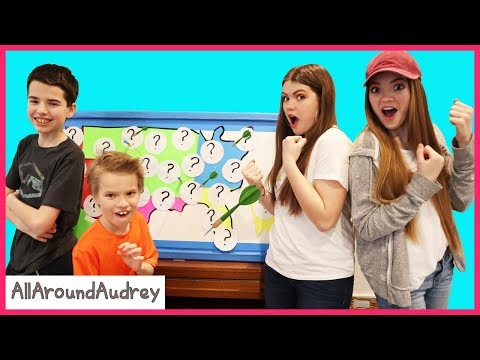 Throwing A Dart At A Map And Do Whatever Dare It Lands On Boys Vs Girls!/ AllAroundAudrey