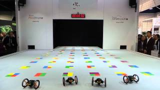 Parrot Jumping Sumo y Mini Drone baile CES 2014