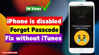 How To Fix Iphone Disabled Forget Passcode Without iTunes New Easy Method