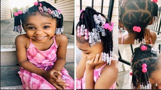 Quick And Easy TODDLER Hairstyle    Braided Ponytails II Toddler Hair Tutorials