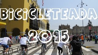 preview picture of video 'Bicicleteada por el 480° aniversario de Lima (2015)'