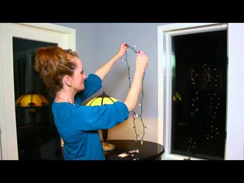 How to Attach Christmas Lights to the Inside of a Window : Christmas Flare Decorations