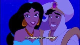 アラジン A Whole New World 英語字幕付き