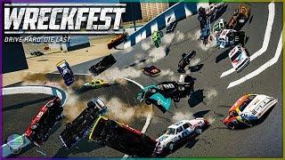 COMPLETE ANNIHILATION!   Wreckfest   NASCAR Legends - Speedbowl Xtreme