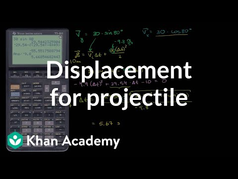 Total displacement for projectile (video) | Khan Academy