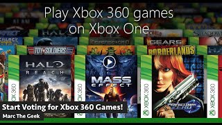Start Voting for Xbox 360 Games for Xbox One