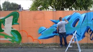 preview picture of video 'Inauguration du Mur de Graffiti à Lens X Ironlak'