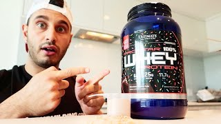 Ultimate Nutrition Prostar Whey Protein Review + Taste Test!!! (Industry 1st Flavour)