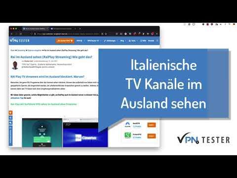 Rai im Ausland sehen (RaiPlay Streaming) Wie geht das? 3