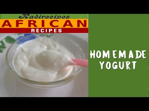 Homemade natural yoghurt — Kadirecipes
