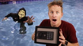 Abandoned Safe in Swimming Pool!! Hacker battle in Real Life! Defeating Project Zorgo