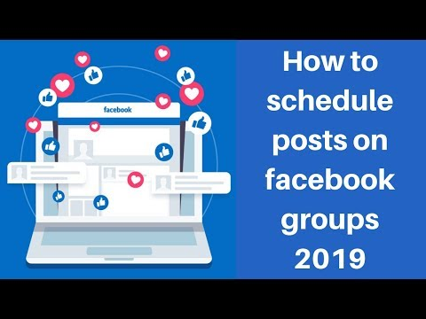 How to schedule posts on facebook groups 2019