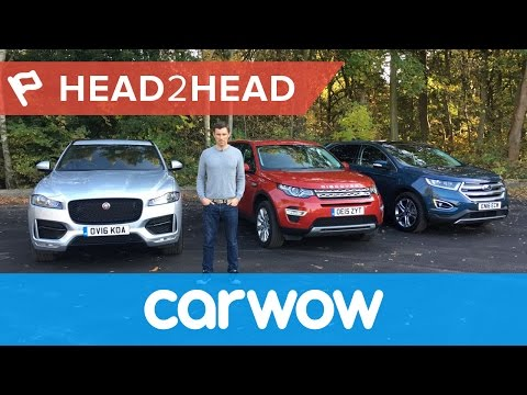 Jaguar F-Pace vs Land Rover Discovery Sport vs Ford Edge 2017 review | Head2Head