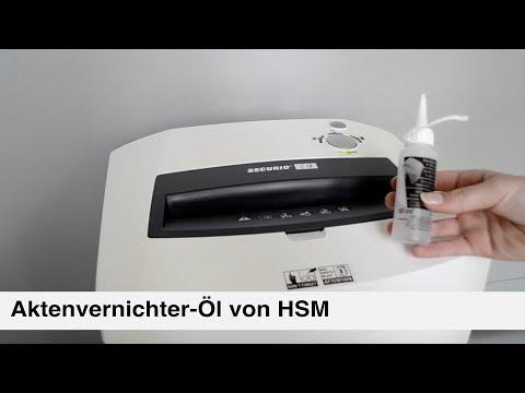 Läuft wie geschmiert - HSM-Aktenvernichter-Öl