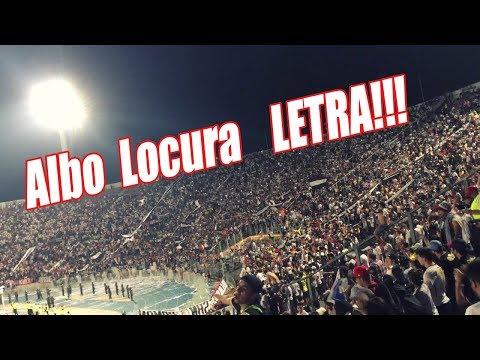 """""""Albo Locura tu Eres mi Vida (Letra) en Aniversario en Plena Calle"""" Barra: Garra Blanca • Club: Colo-Colo"""