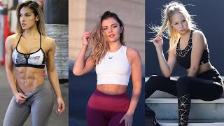 Cute Beautiful Fit Girls With Strong Slim Body