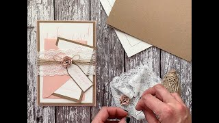How To Make A Wedding Invitation Holder With Lace - DIY Wedding Invitation Ideas