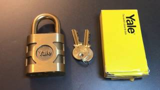 [343] Yale Model 851 Brass Padlock Picked and Gutted