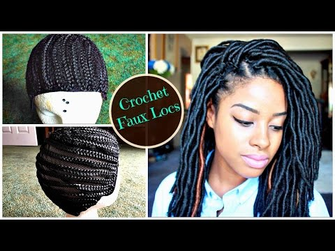 Faux Locs Crochet Braids Wig Using A Cornrow Cap Youtube Download Extraordinary Braid Pattern For Crochet Faux Locs