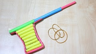 How To Make A Paper BB Gun At Home  Paper Pistol Tutorial