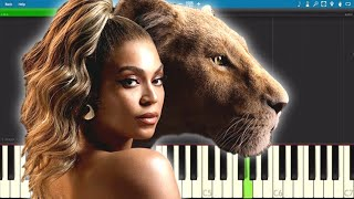 Beyoncé   Spirit (From Disney's The Lion King)   Piano Tutorial