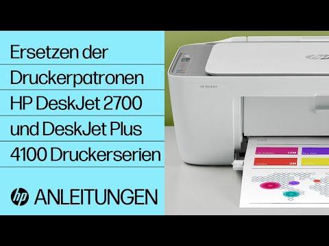 Ersetzen der Druckerpatronen bei HP DeskJet 2700 und DeskJet Plus 4100 Druckern