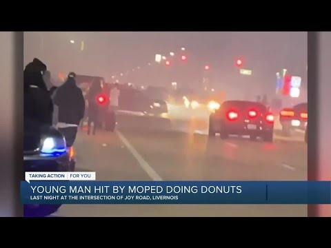 21-year-old hit by moped doing donuts in Detroit