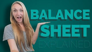 Balance Sheet Explained in Simple Terms - Accounting Balance Sheet Tutorial in Excel