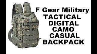 F Gear Military Tactical Digital Camo Casual Backpack (Close Look & Review)