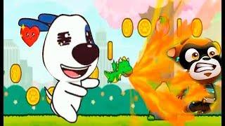ГОВОРЯЩИЙ кот ТОМ бег ЗА СЛАДОСТЯМИ #3 Хэнк и огненный дракон. Игровой мультик для детей