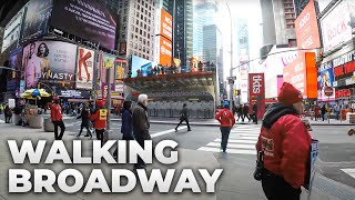⁴ᴷ Walking Tour of Manhattan, NYC - Broadway from Times Square to South Ferry - Video Youtube