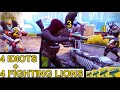 Download 4 Idiots + 4 Fighting Lions = Mayhem TRIALS (funny Moments) HD Mp4 3GP Video and MP3