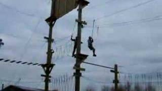 preview picture of video 'Saint's RLFC on Aerial Extreme at Knowsley Safari Park  II'