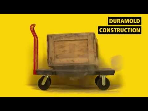 Product video for Heavy Duty Platform Truck, 24 In x 48 In with 8 In Pneumatic Casters