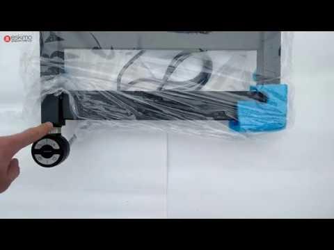Terma VIVO - электрический полотенцесушитель в черном матовом цвете RAL 9005 mat