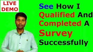 How I Qualified And Completed A Survey Successfully   Survey Time [Hindi]