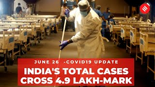 Coronavirus on June 26, India total Covid-19 cases cross 4.9 lakh-mark - Download this Video in MP3, M4A, WEBM, MP4, 3GP