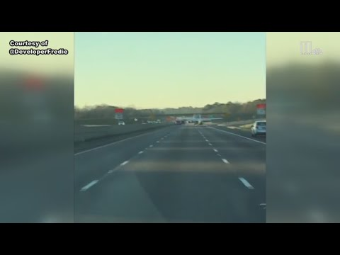 Airplane lands on I-20 | Captured on video by Atlanta man on holiday trip