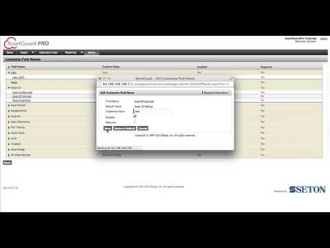 AssetGuardPro Tutorial How to Customise Data Fields