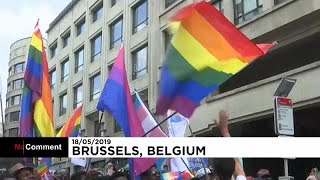 Százezren vonultak Brüsszelben a Meleg Büszkeség-parádén