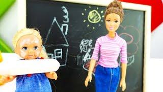 Барби собирает Штеффи в школу - Мультики с куклами