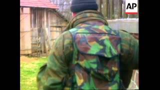 Bosnia - Bosnian Army Battle Moslem Secessionists