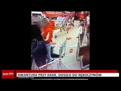 Wideo1: Awantura przy kasie w supermarkecie w Lesznie