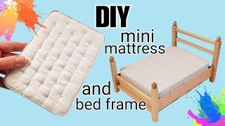 DIY Dollhouse Mattress And Bed Frame: Making Festers Bed