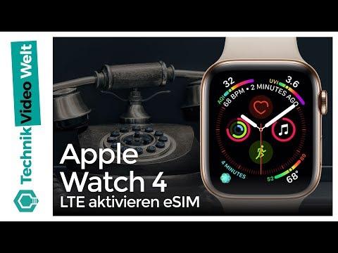Apple Watch 4 LTE aktivieren / eSIM einschalten