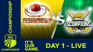 🔴LIVE Leeward Islands vs Jamaica - Day 1 | West Indies Championship | Thursday 12th March 2020