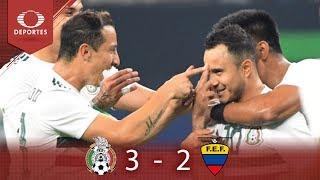 Golazos encaminan TRIunfo | México 3 - 2 Ecuador | Partido amistoso | Televisa Deportes